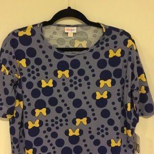 LuLaRoe Disney Minnie Shirt Navy Size XXS NWT